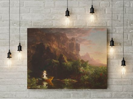 Thomas Cole: The Voyage of Life Childhood. Fine Art Canvas.